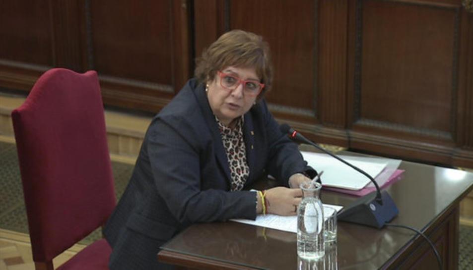 L'exconsellera de Treball i Afers Socials, Dolors Bassa, declarant davant del Tribunal Suprem el 20 de febrer del 2019