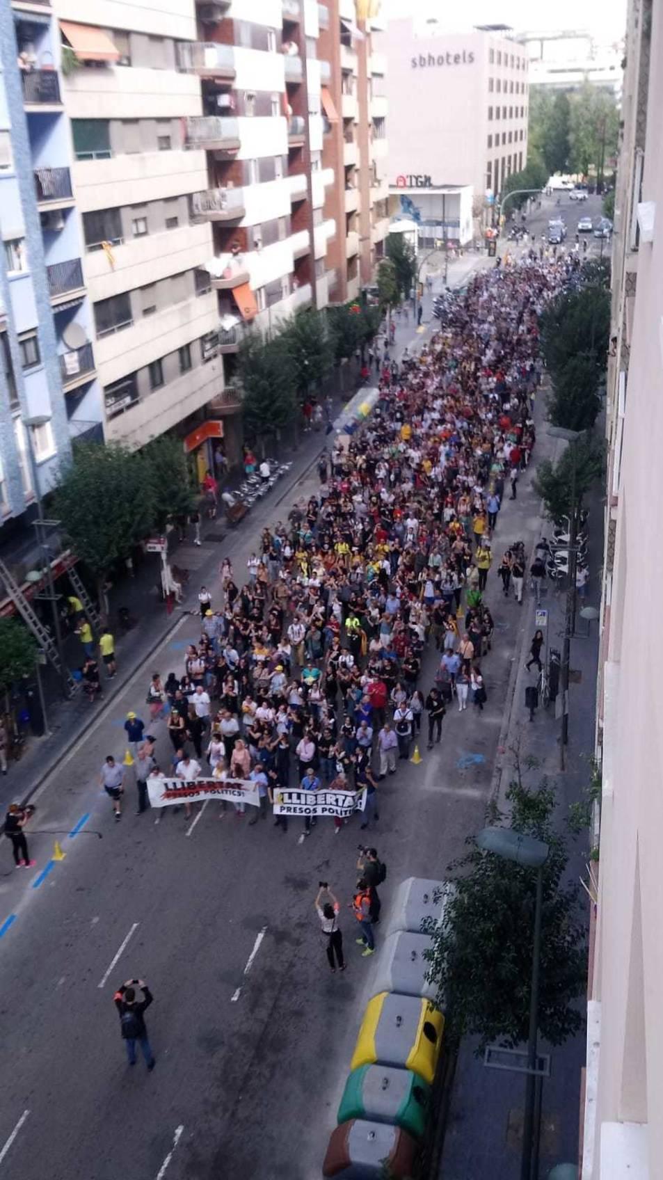 Els manifestants a Tarragona.