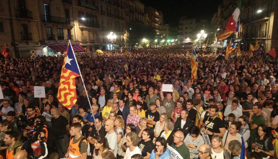 Imatge de la manifestación a Tarragona.