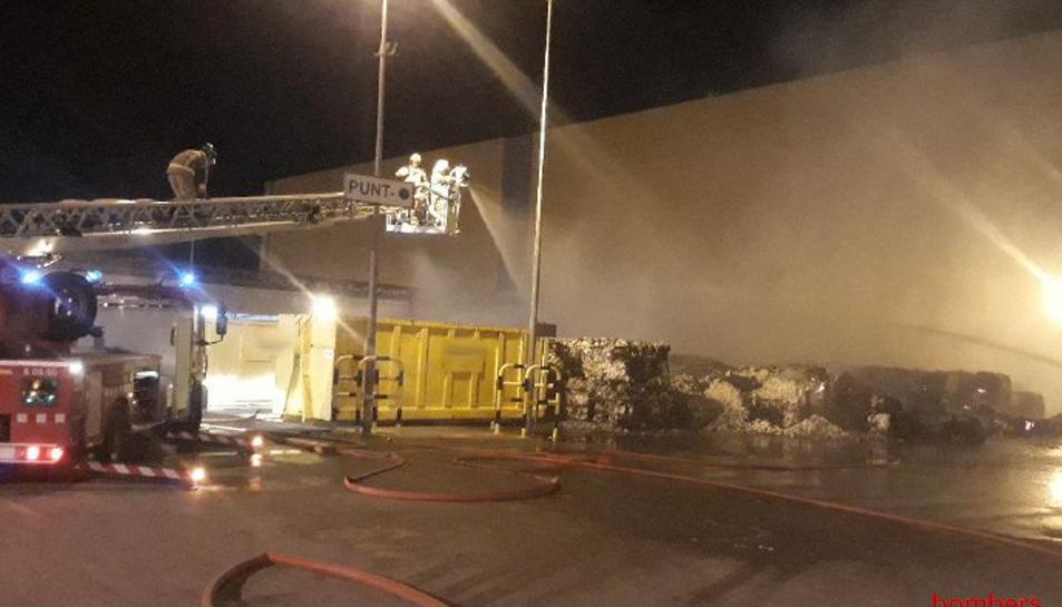 Imatge de l'afectació de l'incendi.