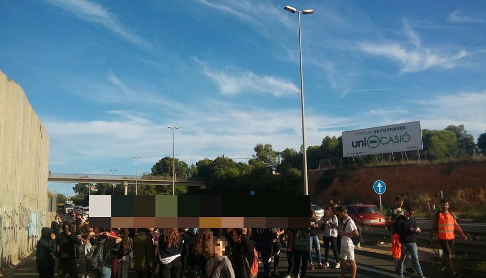 Imatge del tall a Tarragona.