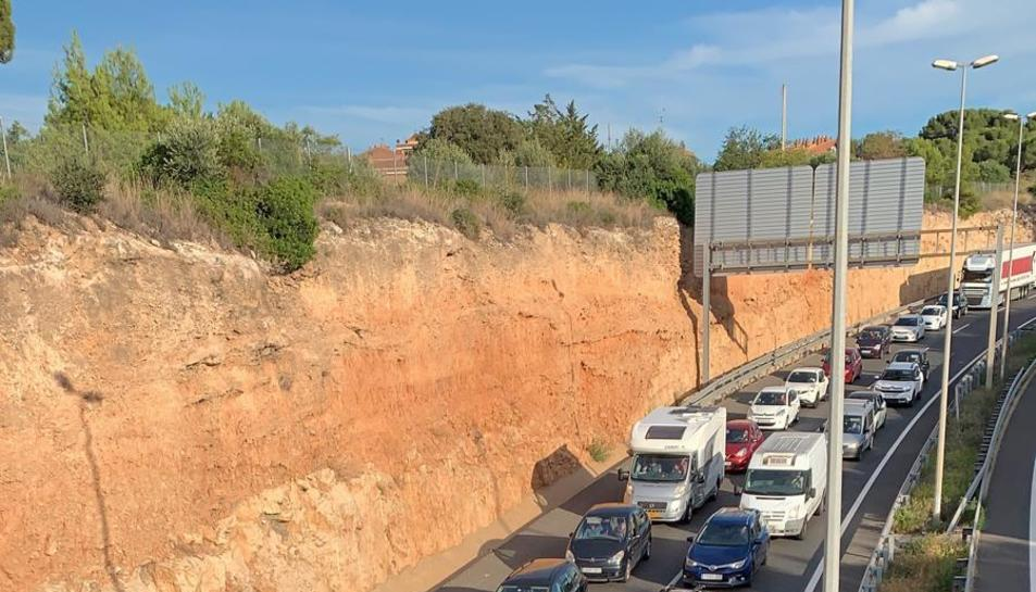 L'A-7 tallada a Tarragona