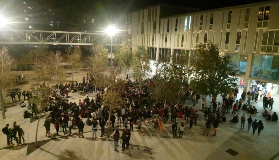 Imatge de l'assemblea oberta al Campus Catalunya.