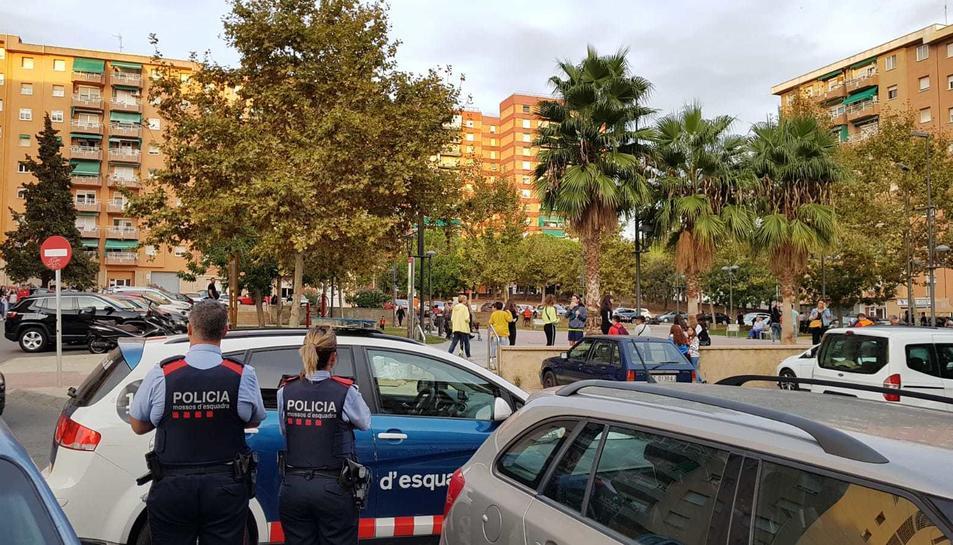 Barri de Sant Pere i Sant Pau on hi havia convocada una manifestació nacionaiista.