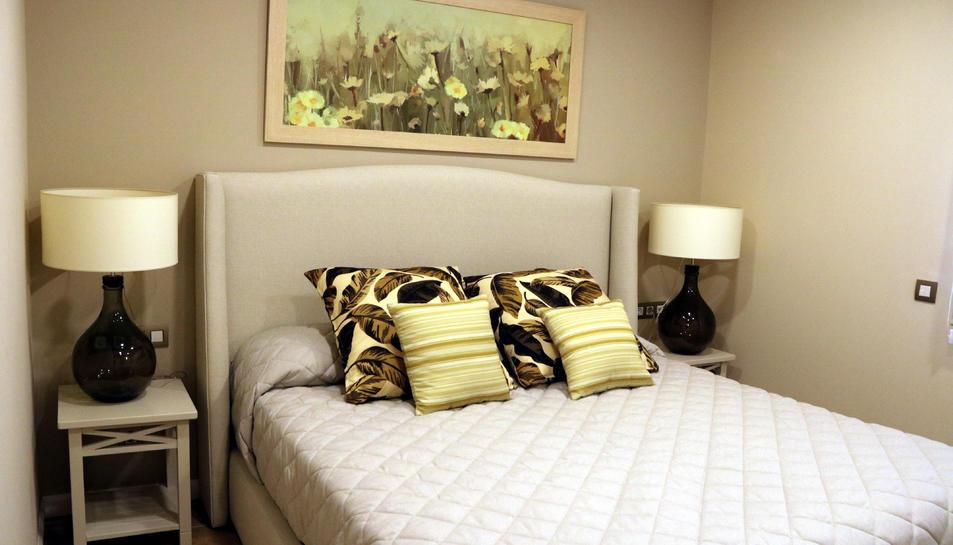 Imatge d'una habitació d'un dels habitatges de PortAventura Dreams. Imatge del 22 d'octubre del 2019