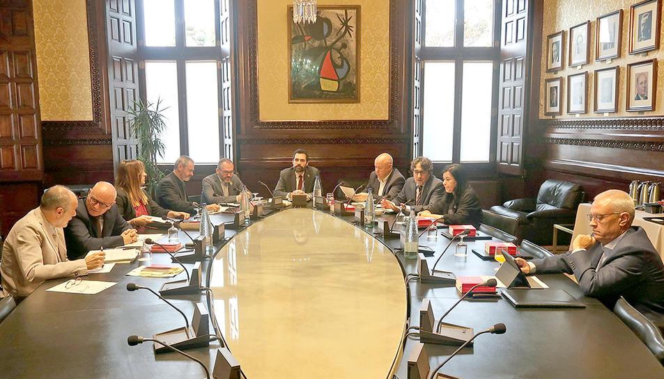 Reunió de la Mesa del Parlament del 22 d'octubre del 2019