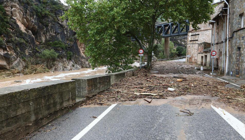 La Riba después del temporal