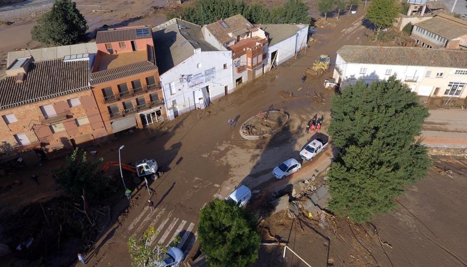 Noves imatges de la zona de la Conca afectada pel temporal