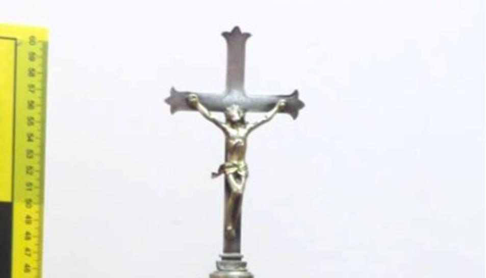 Imatge del reliquiari recuperat.