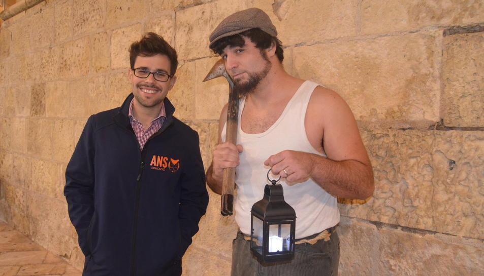 Víctor García i Joan Velasco, directors d'Ans Educació, el passat divendres a Reus.
