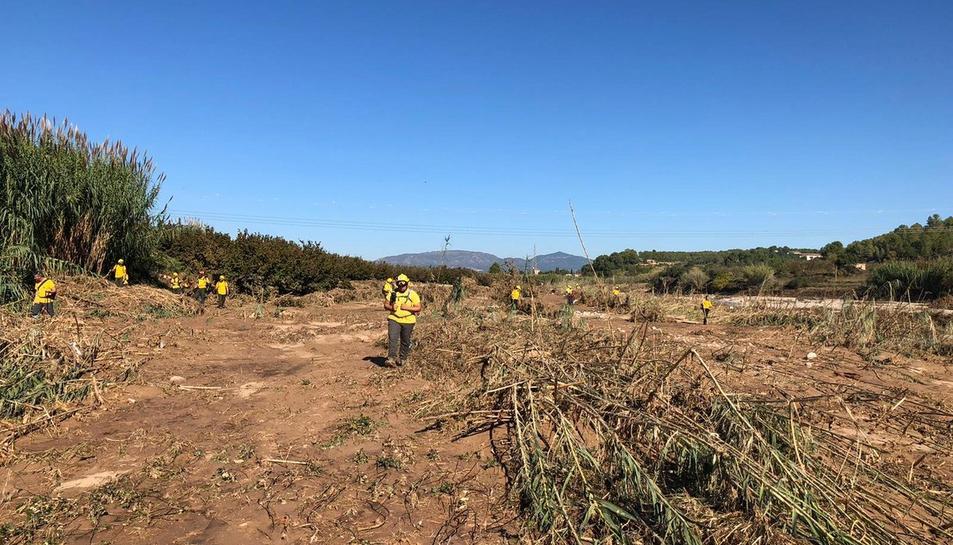 Voluntaris treballen en la recerca dels desapareguts