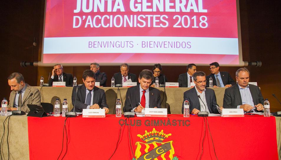 La Junta d'Accionistes del 2018 va servir per explicar que el deute havia quedat a zero.
