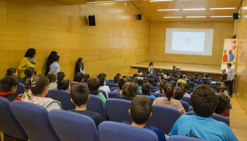Imatge d'arxiu d'una sessió de projeccions del FICVI.