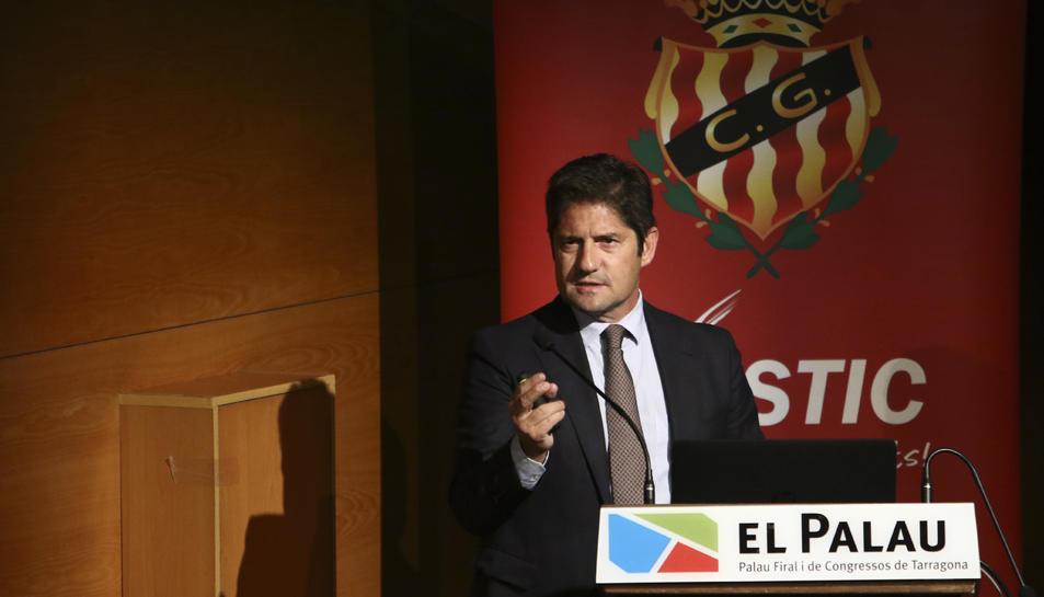 Lluís Fàbregas, durant la Junta General d'Accionistes celebrada aquest passat dimarts al Palau de Congressos de Tarragona.