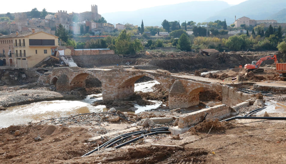 Imatge de l'estat actual del Pont Vell de Montblanc