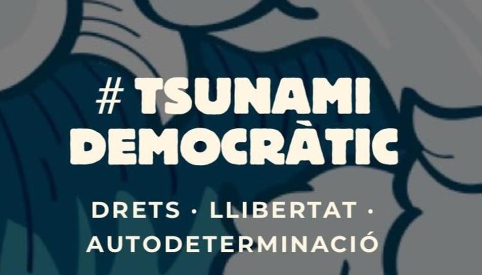 Imatge extreta de la web de Tsunami Democràtic.