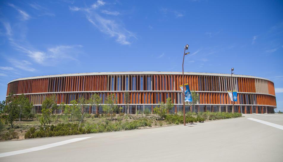 Imatge del Palau d'Esports de l'Anella Mediterrània pel qual negocien Generalitat i consistori.