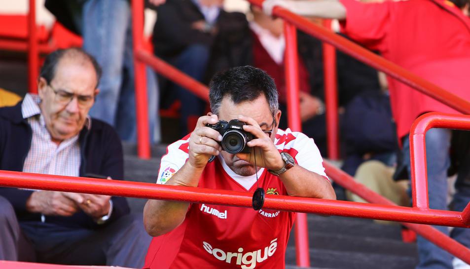 L'afició del Nàstic durant el partit contra l'Espanyol B