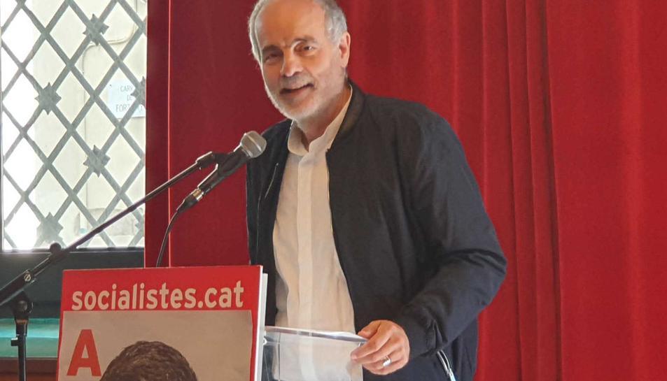 Joan Ruiz en un recent acte electoral organitzat pel PSC de Tarragona.