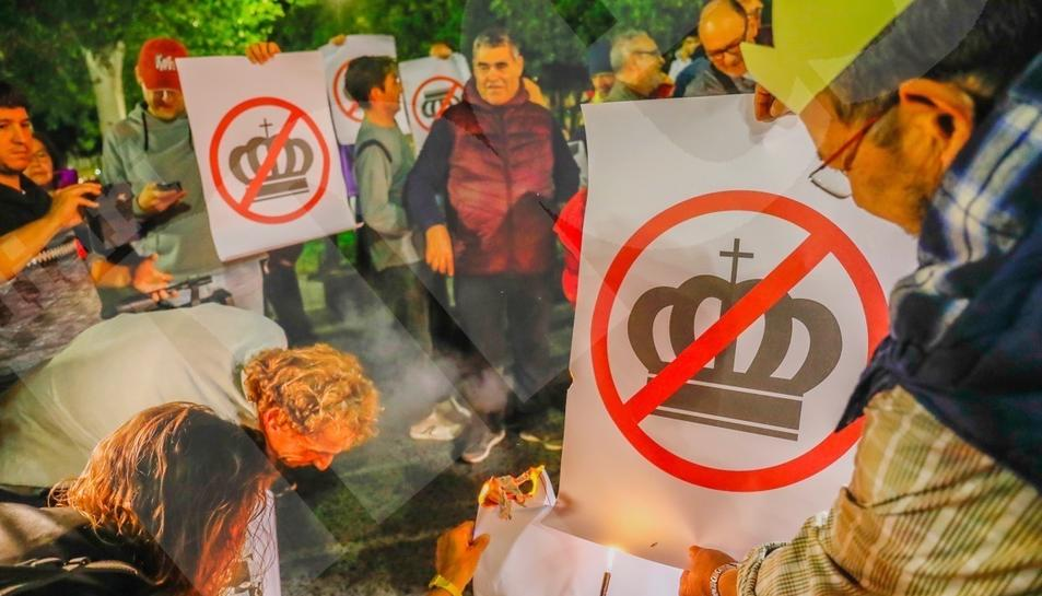 La manifestació contra el Rei a Tarragona (1)