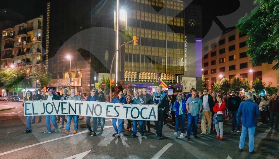 La manifestació contra el Rei a Tarragona (2)