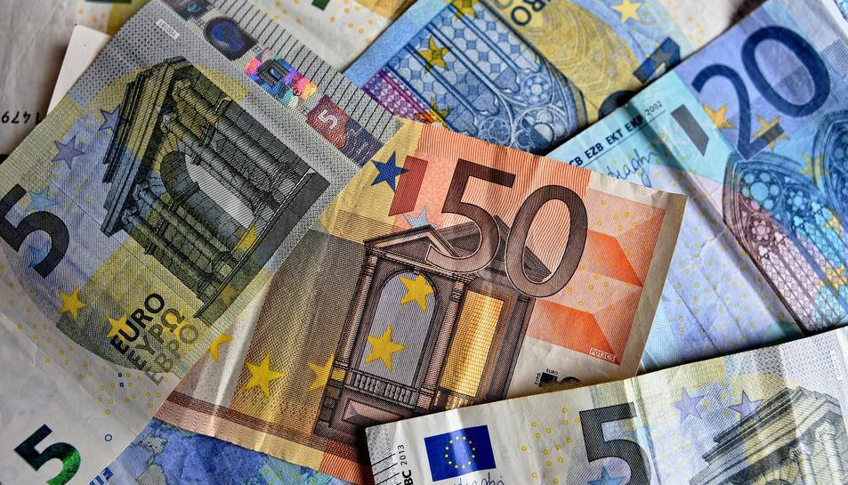 Imatge d'arxiu de bitllets d'euro.