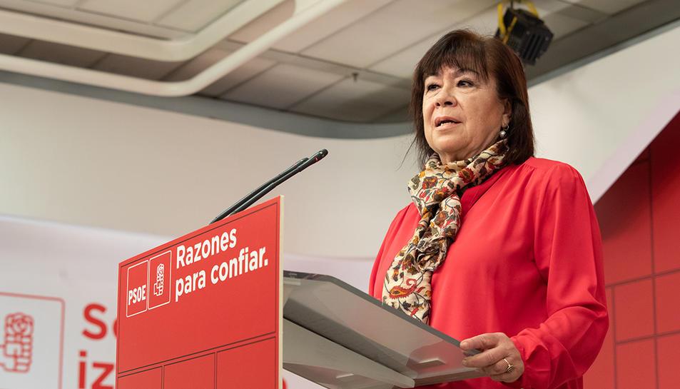 Imatge d'arxiu de la presidenta del PSOE, Cristina Narbona.