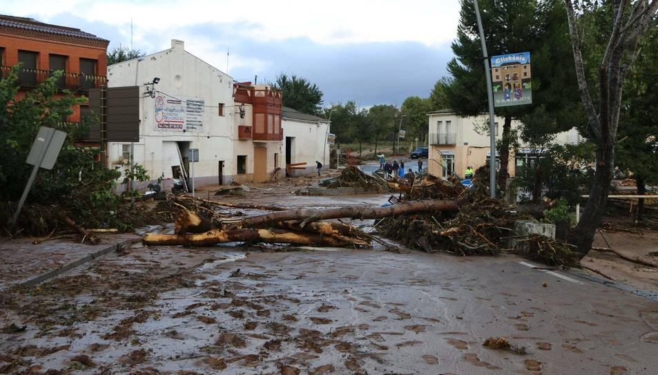 Imatge de les destrosses que van provocar les fortes pluges a Montblanc