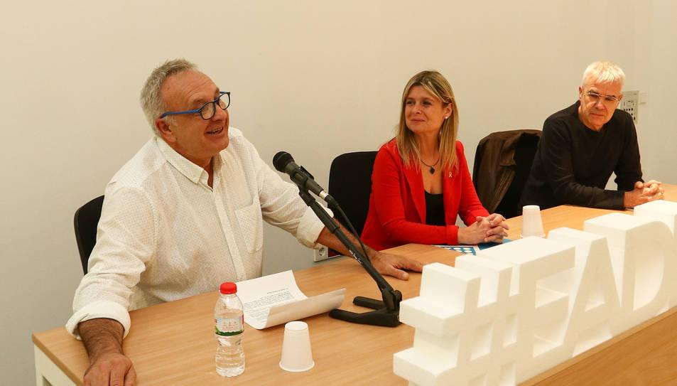 Vilafranca, Llauradó i Rom ahir en l'acte d'obertura.