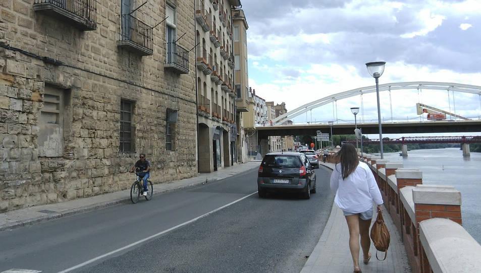 Imatge d'arxiu d'un carrer de Tortosa