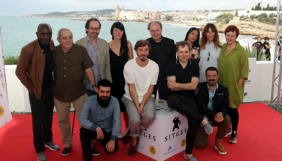 L'equip d''El hoyo' al Festival de Sitges, el 8 d'octubre del 2019.