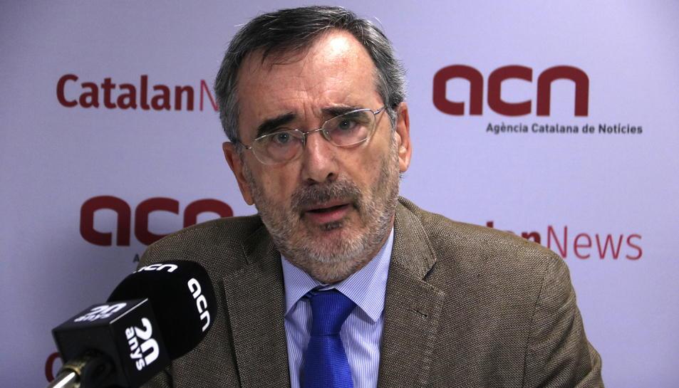 El president del Senat i candidat del PSC a la cambra alta, Manuel Cruz.