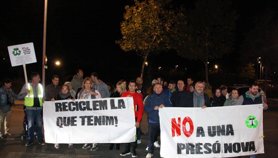 Imatge dels manifestants