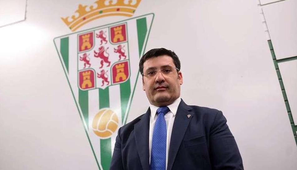 El president del Córdoba, Jesús León