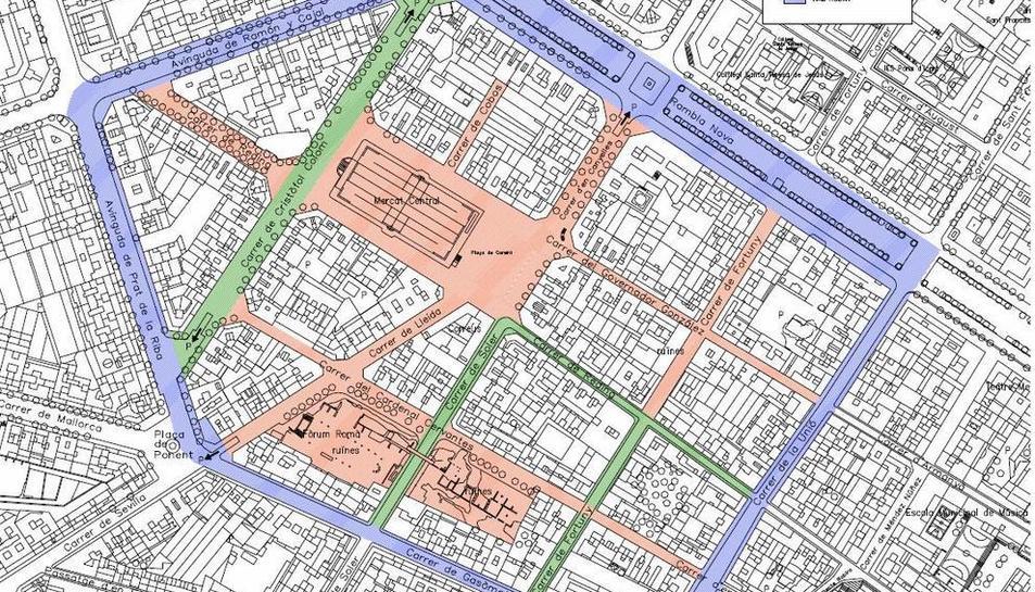 Distribució del projecte Illa Corsini que va presentar l'anterior govern municipal de Tarragona.