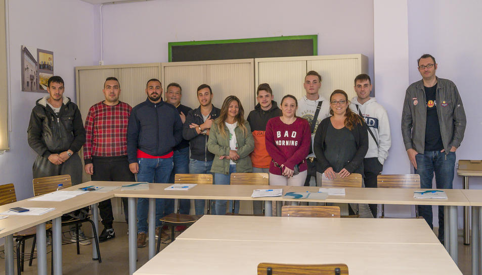 Fotografia dels participants als cursos.
