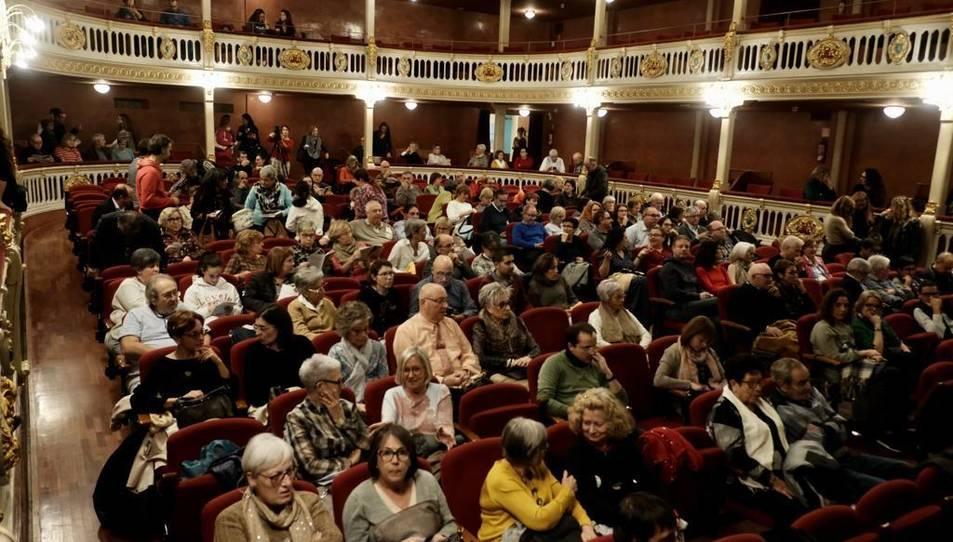 Imatge del públic durant una de les projeccions del Memorimage