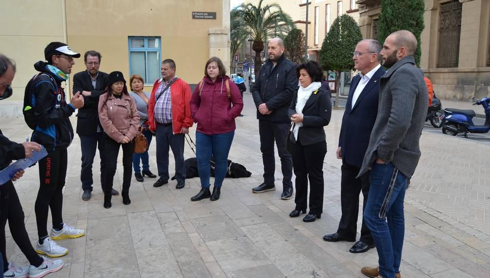Imatge de la presentació de la presentació de la «Volta Solidària per les Malalties Rares» a Reus