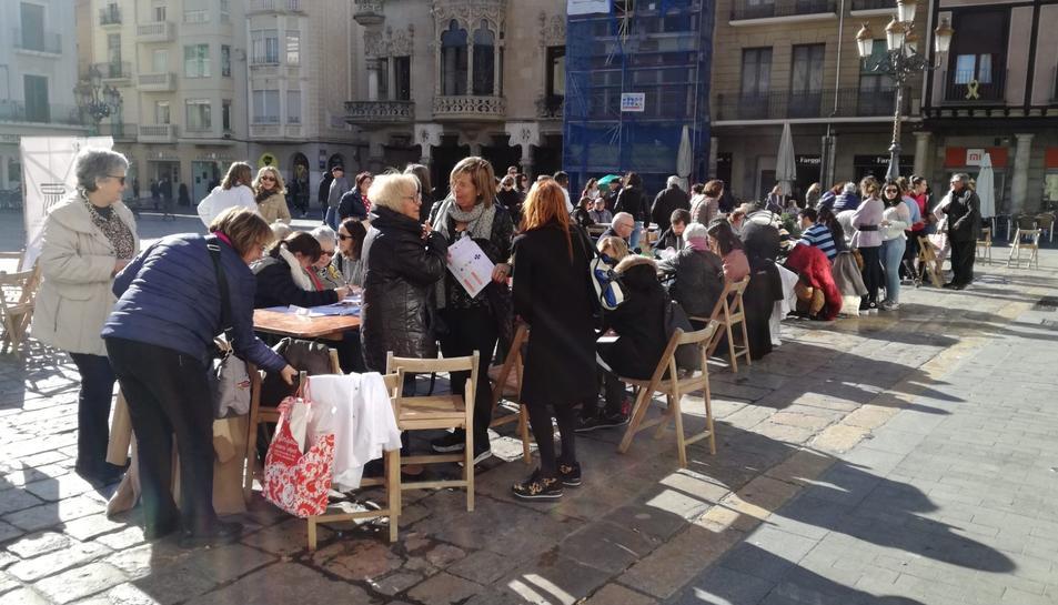 Imatge de la jornada a la plaça Mercadal.