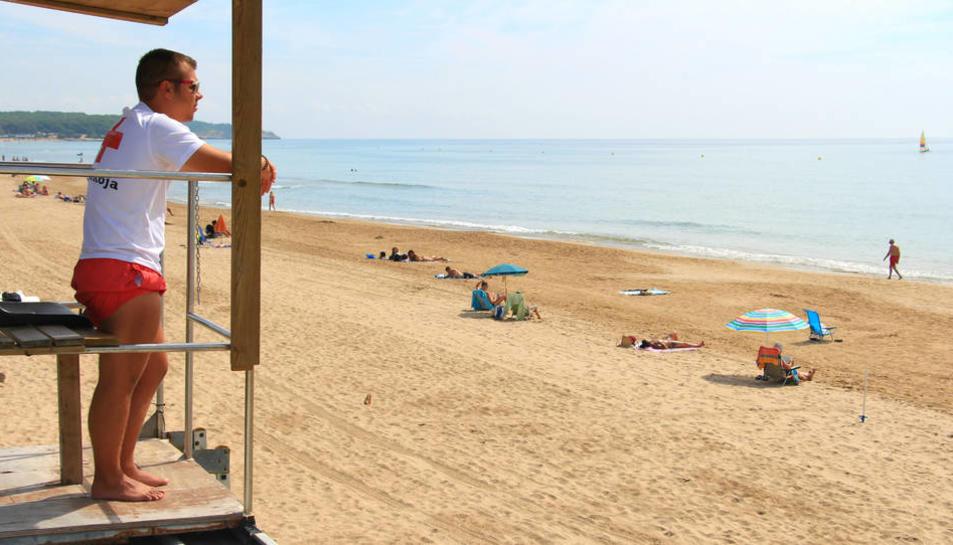 Imatge de la platja Llarga, per la qual lluita la plataforma SOS Platja Llarga.