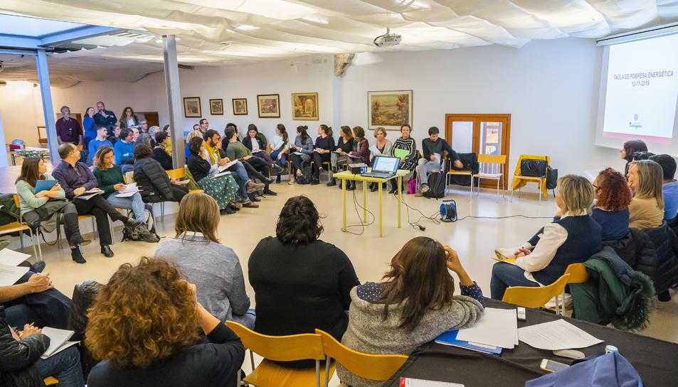 Instant de la reunió d'ahir en què hi van assistir representants de Cambrils, Salou i Vila-seca.