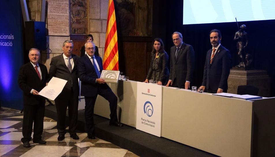 El Grup Segre recull el Premi Nacional de Comunicació al Palau de al Generalitat