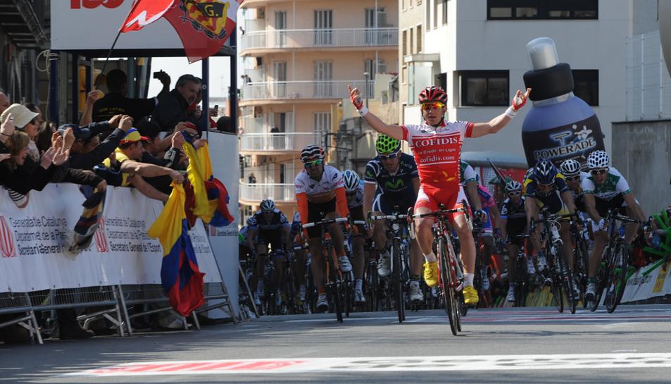 El francès Samuel Dumoulin, guanya a Tarragona l'any 2011 (Arxiu Volta)