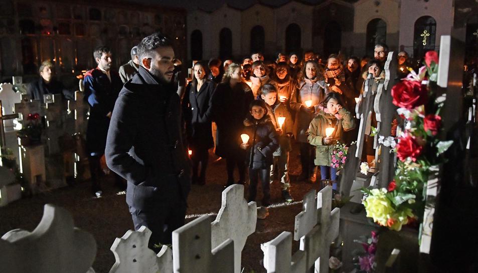 Imatge d'una de les visites nocturnes al Cementiri de Reus