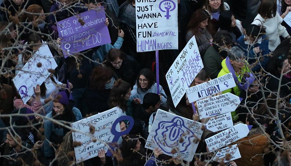 Imatge d'arxiu d'una manifestació feminista