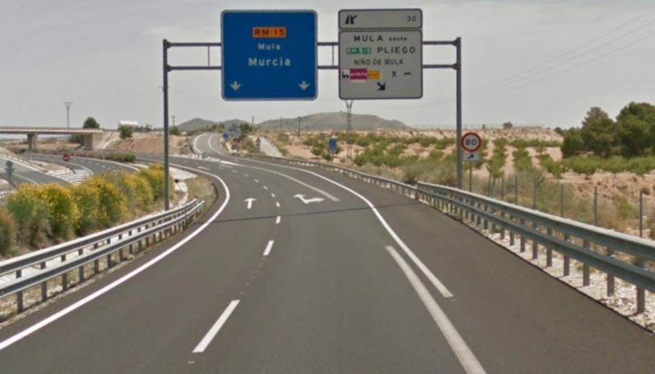 Imatge de la carretera on va ser abandonada la dona