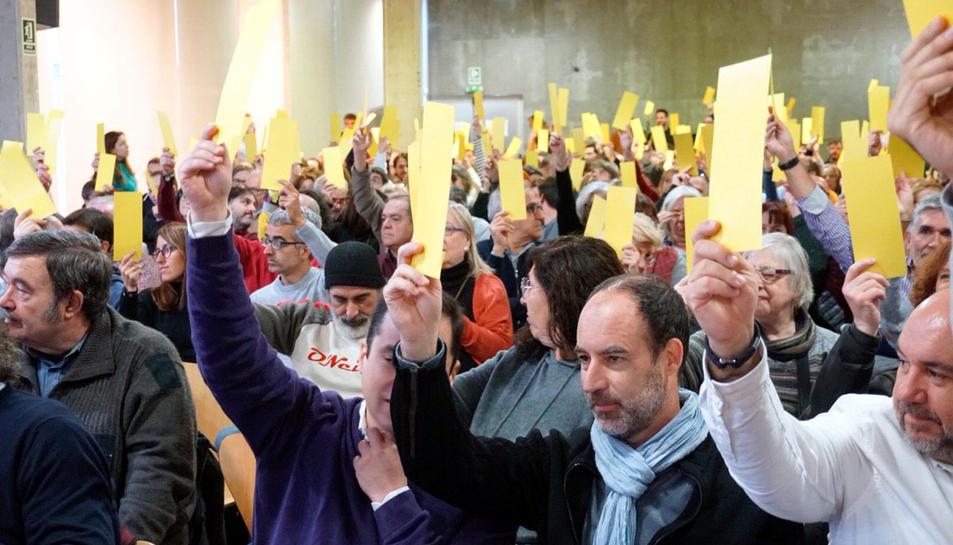 Participants a la Convenció Fundacional de Primàries Catalunya al Centre Cívic Pere Quart de Barcelona.