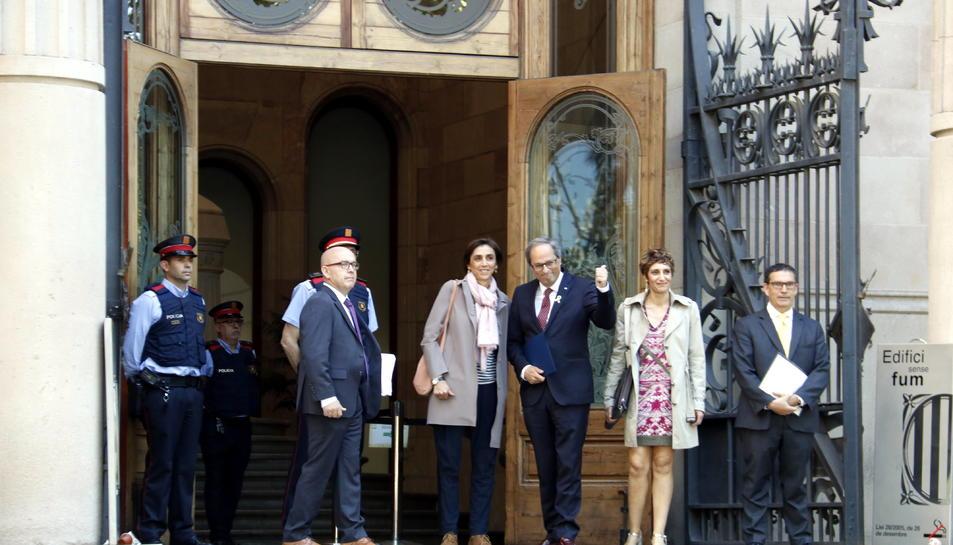 El president de la Generalitat, Quim Torra, entrant al TSJC.