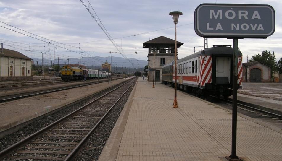 Estació de tren de Móra la Nova.