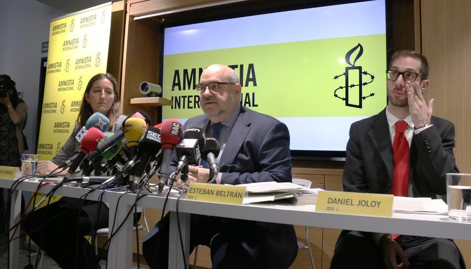 Roda de premsa d'Amnistia Internacional sobre la sentència de l'1-O.